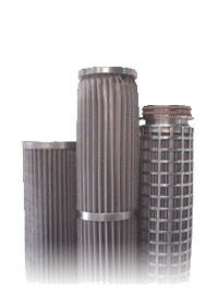 ASCO pleated metal mesh cartridges